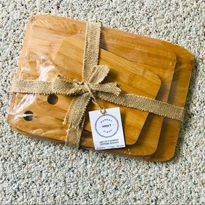 NWT MARKET FINDS Set of 3 Bamboo Cutting Board